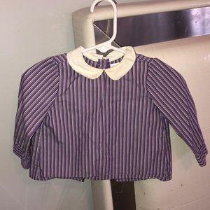 Striped Peter Pan collar blouse